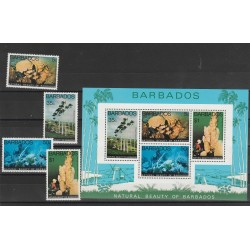 BARBADOS 1977  PESCI FISH 4 V + BF  MNH  MF54185