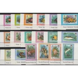TUVALU 1979 FAUNA  PESCI DEFINITIVA  18  VAL MNH MF54181