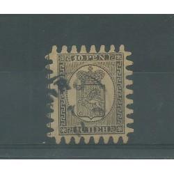 1866 FINLANDIA SUOMI STEMMA  INIF N° 12  - 1 V USATO MF51046