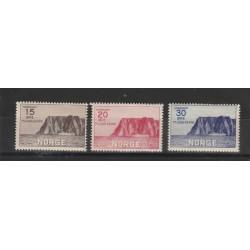 1930 NORVEGIA NORGE  CAPO NORD 1° SERIE 3 V UNI 151/153 MLH MF51129