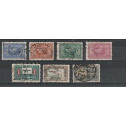 1921 LITUANIA LIETUVA SOGGETTI VARI 7 VAL  USATI  MF54237