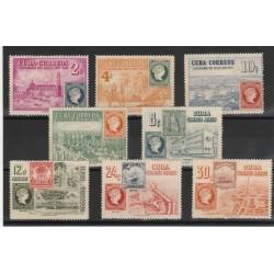 1955 CUBA  CENTENARIO DEL FRANCOBOLLO 8 VAL MNH   MF53513