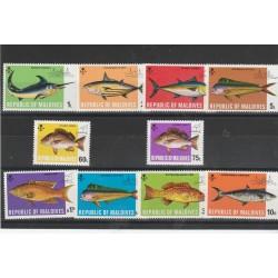 MALDIVES 1973 FAUNA  PESCI  10 VAL MNH MF54231