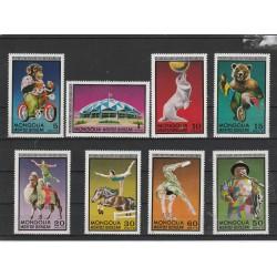 1974  MONGOLIA  SERIE ANIMALI CIRCO  8  VAL MNH  MF54256