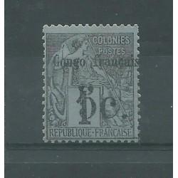 CONGO FRANCAIS 1891/92 ALLEGORIA DELLE COLONIE SOPRASTAMPATA MLH YV.N 1 MF27414
