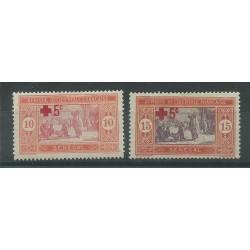 SENEGAL 1915/18  PRO CROCE ROSSA 2 VALORI MLHI MF27472