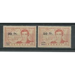 SENEGAL 1944 MARESCIALLO CAILLIE SOPRASTAMPATO 2 VAL MNH MF27470