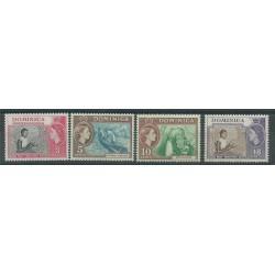 DOMINICA 1957 DEFINITIVA ELIZABETH II  4 V NUOVI MNH YV 152/155 MF27434