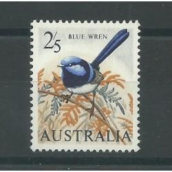 1964 AUSTRALIA UCCELLI BLU WREN CARTA BIANCA MNH MF27430
