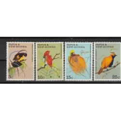 PAPUA  NEW GUINEA 1970 ELIZABETH  FAUNA UCCELLI  5 VAL MNH MF54338