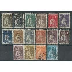 1912 / 1920 PORTOGALLO SERIE CERERE 18 VALORI USATI MF51127