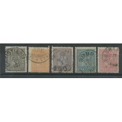1867 / 18 68NORVEGIA NORGE SERIE LEONE RAMPANTE CIFRE ANGOLI 5 V USATI MF50991