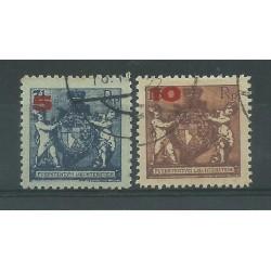 1924 LIECHTENSTEIN STEMMI SOVRANI 2 VAL USATI UNIF. n. 61B/62B MF27486