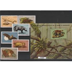 GAMBIA 1980   RISERVA DI ABUKO WWF 4 V + BF MNH MF53463