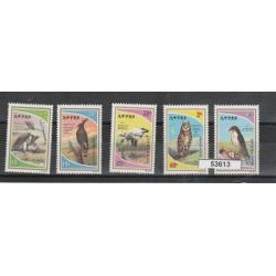1980 ETIOPIA  ETHIOPIA FAUNA  uccelli 5 VAL MNH  MF53613