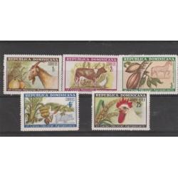 1971 REPUBLICA DOMINICANA  CENSIMENTO AGRICOLTURA 5 VAL MNH MF54304