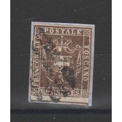 TOSCANA 1860  - 10 CENT BRUNO ROSSICCIO  SASS N 19 USATO  MF54394