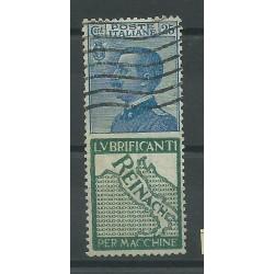 1924 REGNO PUBBLICITARI 25C REINACH 1 VALORE USATO MF 18081