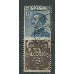 1924 REGNO PUBBLICITARI CENT 25 PIPERNO 1 VALORE USATO MF18080