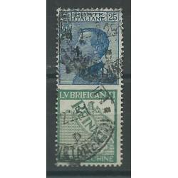 1924 REGNO PUBBLICITARI 25C REINACH 1 VALORE USATO MF16681