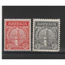1935 AUSTRALIA  20 ANNIV . ANZAC  2 VAL MNH MF54385
