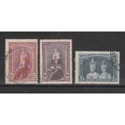 1938 AUSTRALIA  REALI ALTI VALORI 3 VAL USATI  MF54379