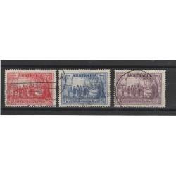 1937 AUSTRALIA  NUOVO GALLES DEL SUD 3 VAL USATI  MF54378