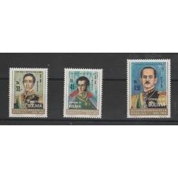 BOLIVIA 1975  SIMON BOLIVAR 3 VAL MNH  MF54356