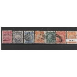 BOLIVIA 1890 STEMMA  7 VAL USATI MF54365