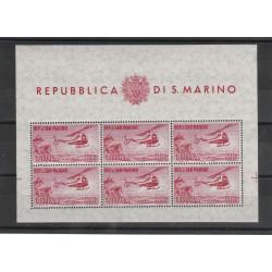 1961 SAN MARINO PA ELICOTTERO LIRE 1000 FOGLIETTO NUOVO INTEGRO MF25606
