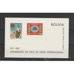 BOLIVIA 1967  LIOS CLUB  1 BF MNH  MF54346