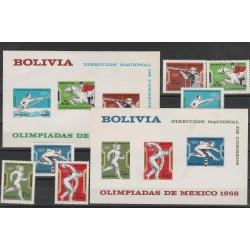 BOLIVIA 1970  OLIMPIADI DEL 68  - 2 BF 6 VAL  MNH  MF54347