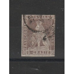TOSCANA 1859 -  9  CRAZIE BRUNO LILLACEO  1 V USATO SASS N 16 CAFFAZ  MF54409