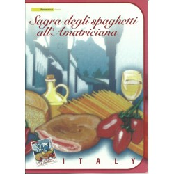 2008 REPUBBLICA ITALIANA FOLDER SPAGHETTI ALL'AMATRICIANA MADE IN ITALY