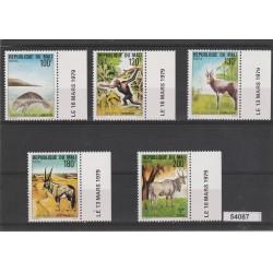REPUBBLIQUE DU MALI 1979 FAUNA  ANIMALI IN ESTINZIONE 5 V MNH MF54087