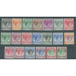 SINGAPORE 1948 / 52 SERIE DEFINITIVA GIORGIO VI 20 VAL MLH / MNH MF27567