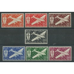 MADAGASCAR MALAGASY 1943 POSTA AEREA EM. DI LONDRA 7 VAL MLH MF27575