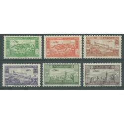 1943 REPUBLIQUE LIBANAISE LIBANO POSTA AEREA 2 ANN INDIPENDENZA 6 V MNH MF27576