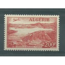 ALGERIE ALGERIA 1957 POSTA AEREA DIGA DI BENI-BAHDEL MNH  YVERT N A14 MF27583