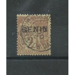 BENIN 1892 ALLEGORIA DELLE COLONIE SOPRASTAMPATA 1 VALORE USATO YV n.2 MF27590