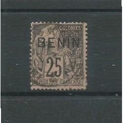 BENIN 1892 ALLEGORIA DELLE COLONIE SOPRASTAMPATA 1 VALORE USATO YV n.8 MF27593