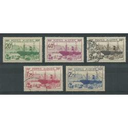 ALGERIE ALGERIA 1939 EXPO DI NEW YORK 5 VAL USATI YV. 153/157 MF27606