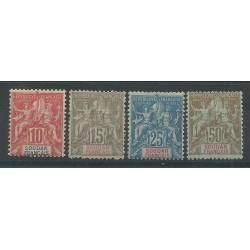 SUDAN SOUDAN 1900 ALLEGORIA DELLE COLONIE 4 VAL MLH YV. 16/19 MF27613