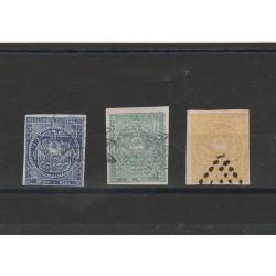 1865-72 ECUADOR SERIE STEMMA 3 VAL  USATI  MNH  MF54453