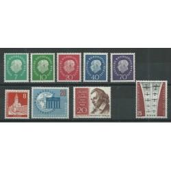 1959 GERMANIA BERLINO ANNATA COMPLETA 1959 9 VALORI NUOVI MNH MF27622