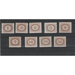 1894-95 AUSTRIA OSTERREICH SEGNATASSE IN KREUZER 9 V MNH MF54483