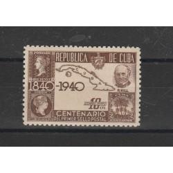 1940 CUBA  CENTENARIO FRANCOBOLLO  1 VAL + BF  MNH  MF54471