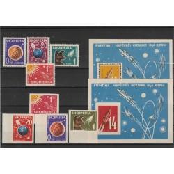 1962 ALBANIA  SPAZIO  8 VAL + 2 BF DENT E NON DENT  MNH  MF54473