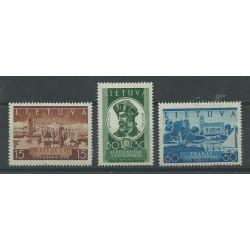 1939 LITUANIA LIETUVA RITORNO DI VILNA ALLA LITUANIA 3 VAL MNH  MF52228