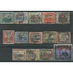 1921 GERMANIA OCCUPAZIONI SARRE - SAAR SOPRASTAMPATI 14 V USATI MF27690